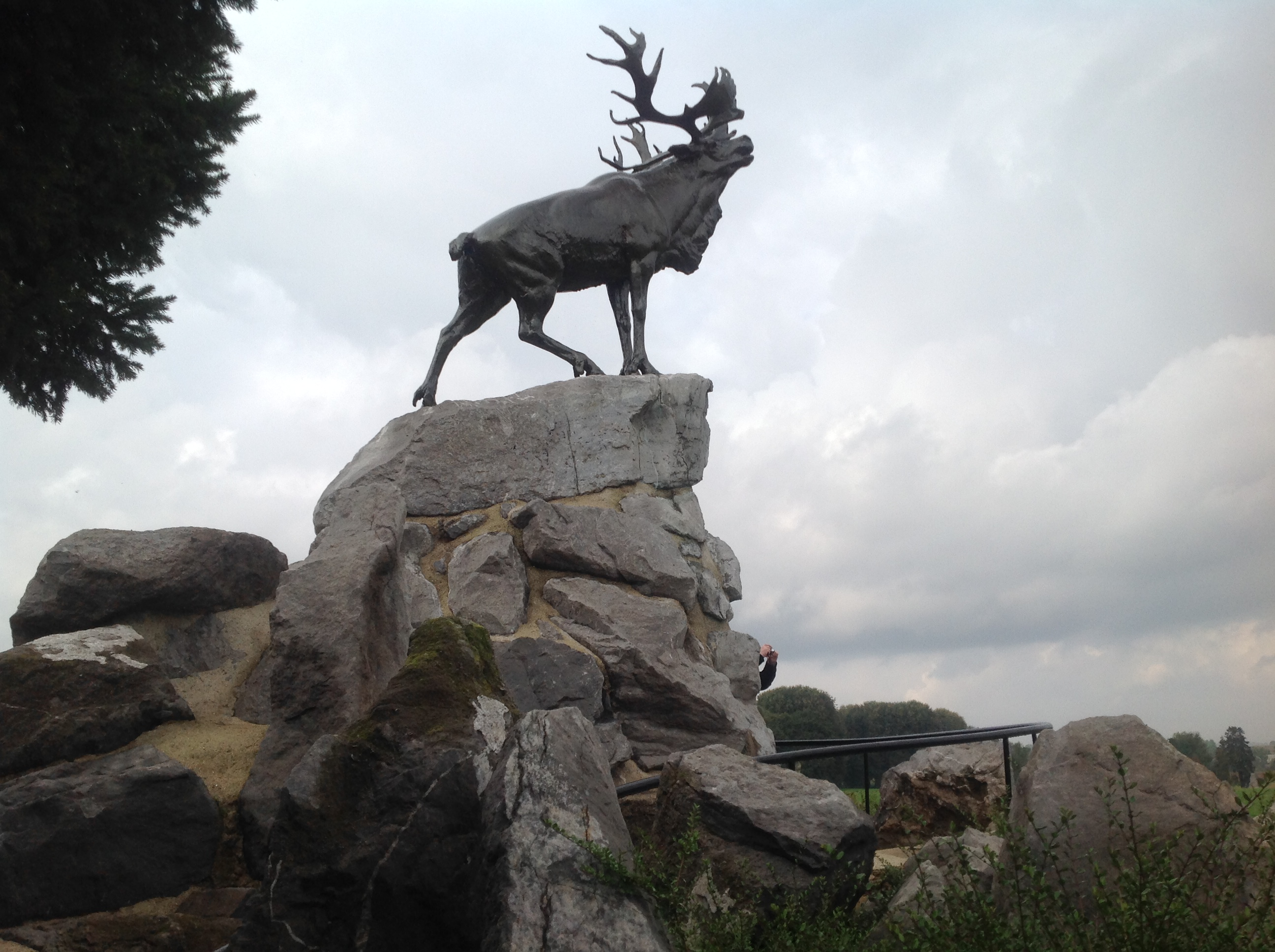 The caribou monument honours Newfoundland's lost men.