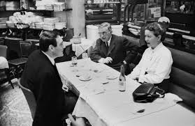 For many years Simone de Beauvoir and Jean-Paul Sartre held court in Cafe Flore or Les deux Magots where they wrote and met friends.