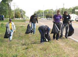 Bless the many community organizations who organize to clean up our roads and highways.