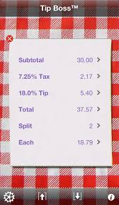 If I could figure out how to use an iPhone I could get a tip calculator app.