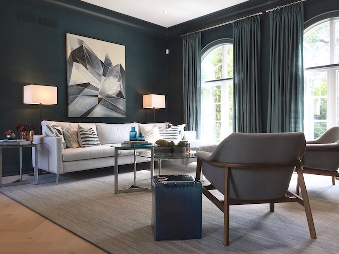 """The casual """"blue room"""" is reportedly Brian Gluckstein's favourite room. Not mine."""
